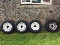 """16"""" Land Rover Defender 4x4 Steel Wheels And Tyres."""