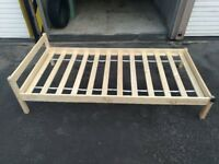 WOODEN UK SINGLE BED. BUY ONE GET ONE FREE.MUST GO!ONLY £10. USED BEDS. COLLECTION ONLY