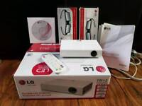 LOWER GIVAWAY PRICE VERY HIGH QUALITY LG PB60G MINI PORTABLE 3d minibeam PROJECTOR as new
