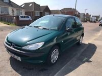 Peugeot 206, 1.2, manual, 1 year MOT, just been serviced , lady owner last 12 years!