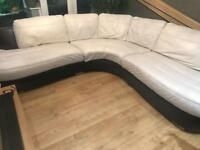 Leather corner sofa large