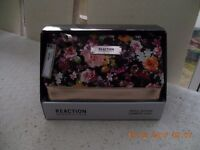 Kenneth Cole Black Floral Triple Section Cosmetic case. Collection only from DE22.