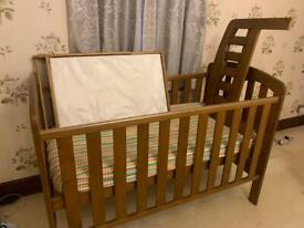 Cot bed and cot mattress