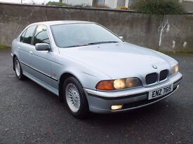 1999 BMW 523I SE MANUAL, only 120k ,LONG mot till June 2017 ,driving well,credit cards accepted £795
