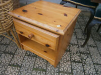 SMALL PINE BEDSIDE CHEST / CABINET