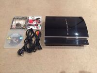 PS3 Games Console With Cables And 3x Games £45 Or Swap for Snes
