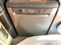 Hotpoint Aquarius dishwasher in grey