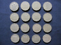Brass Three Pence Coins Collection - (1952 to 1967) - Set of 16 Coins