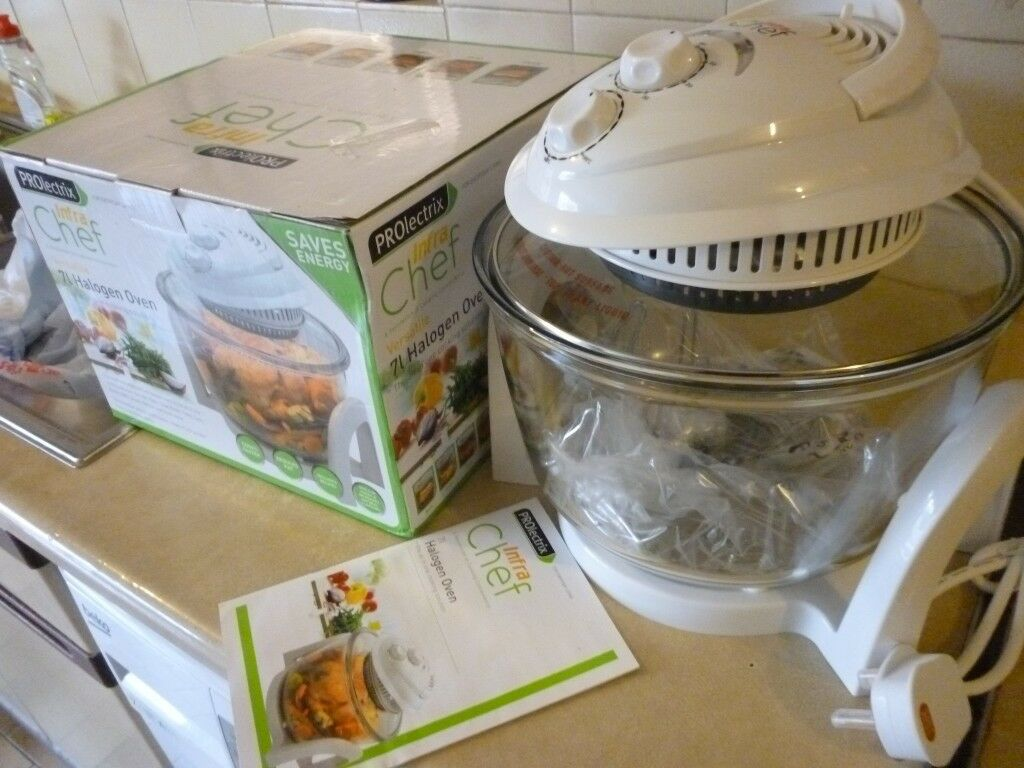 Brand New Boxed Prolectrix Infra Chef Portable Halogen Ovenbakebbq