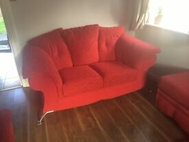 2 & 3 seater Sofas with footstool