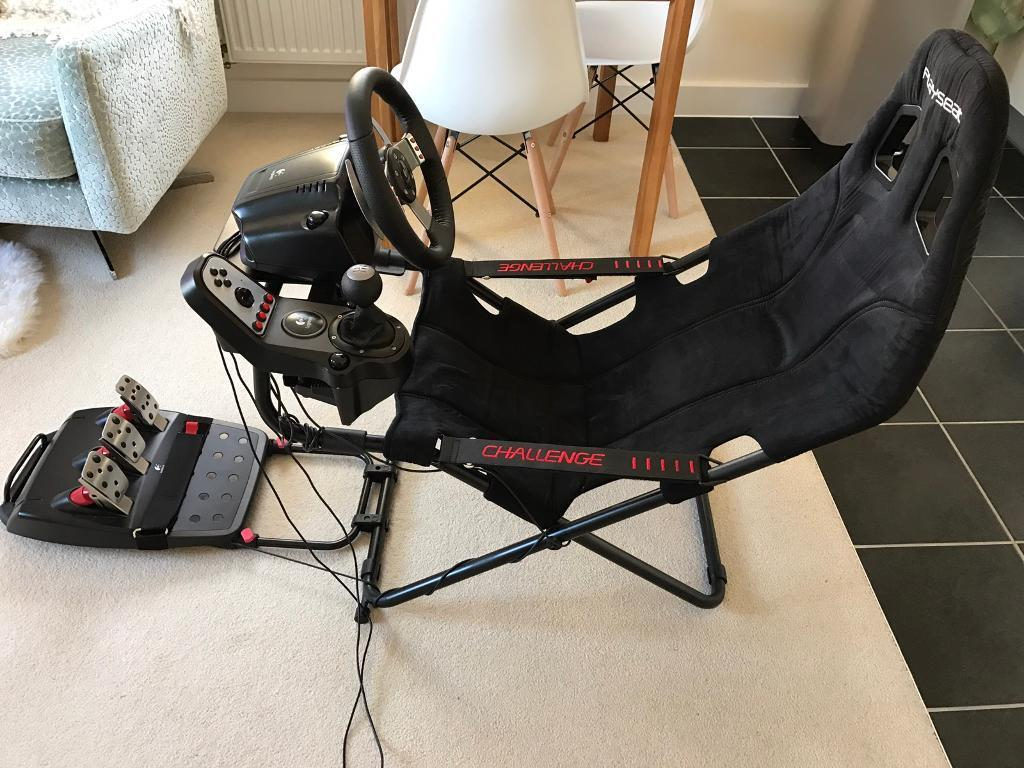 Logitech G27 Steering Wheel And Gearbox With Playseat