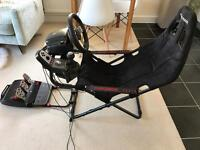Logitech G27 Steering Wheel and Gearbox with Playseat Challenge Gaming Chair Set Up