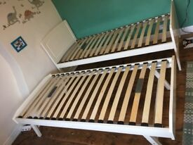 Quality single bed with trundle bed