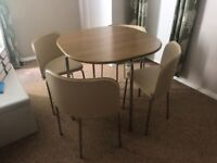 ARGOS DINING TABLE & 4 CHAIRS FOR SALE