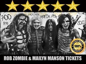 Discounted Rob Zombie & Marilyn Manson Tickets   Last Minute Delivery Guaranteed!