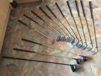 Top Flite golf clubs, 7 irons PW SW putter, driver, 3&5 wood