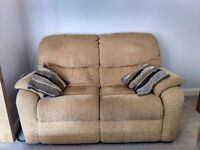 Three seater sofa with one set of machine washable cushion covers for sale !!