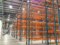 8 bay run of dexion pallet racking 9.4 meters high!!( storage , shelving )