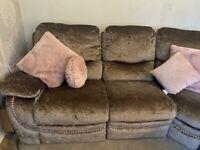 Truffle Crushed Velvet Corner Recliner Sofa