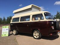 vw t2 bay window classic brazillian camper,2003,show camper in root beer candy! may px motorhome