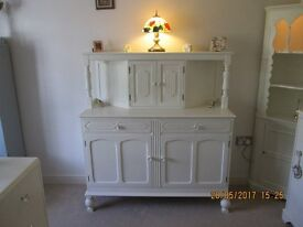 VINTAGE RETRO 1960 SIDEBOARD PAINTED LAURA ASHLEY COUNTRY WHITE