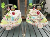 Pair of Bouncy chairs as new