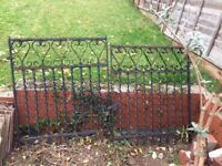 Wrought iron gate x 2