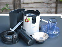 Jiucer, Philips HR1861 Pro Aluminium Juicer, as New condition, never used as unwanted gift.