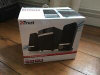 Trust 2.1 subwoofer speaker set RAINA