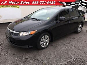 2012 Honda Civic LX, Automatic, Steering Wheel Controls, 57,000k