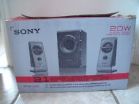 Sony SRS-D21 Multimedia Speaker System boxed with instructions in excellent condition