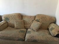 2,3 seaters sofa and 1 armchair