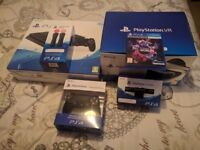 Sony PS4 Slim 500GB + VR Headset + PS4 Camera + PS4 Move Controllers + VR Worlds Game