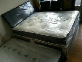 BRAND NEW Double Beds with memory foam & orthopaedic mattresses, double £ 99, king size £ 129 - - -