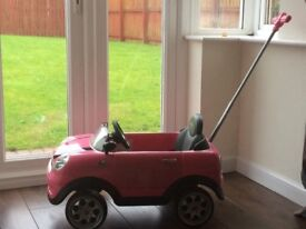 Pink Mini Cooper ride on/push car