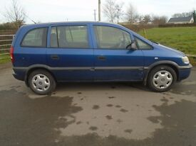 03 vauxhall zafira 7 seater 1.6 petrol good condition full yrs mot g driver