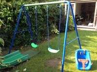 Double swing with little tikes baby seat