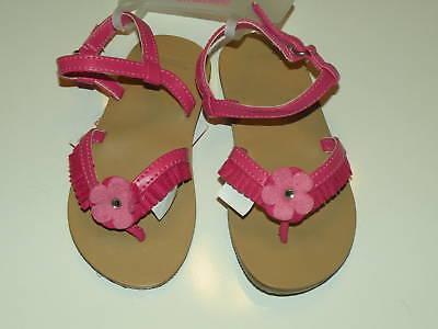 Pink Fairy Schuhe (GYMBOREE FAIRY FASHIONABLE PINK FRINGE FLOWER SANDALS 6 7 8 NWT)