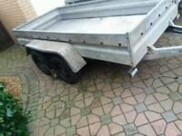 Brenderup twin axle trailer