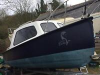 18ft Cabin Fishing Boat And trailer great condition