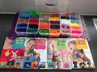 Children's Loom band box set with creative books.