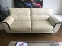 white leather sofa great condition