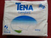 Tena Comfort Mini Pack of 30, Unopened pack