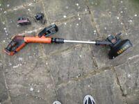 Black & Decker STC1820PC 18V cordless grass trimmer, 280mm 1 x 2ha Li-ion