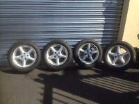 mazda mx5 alloy wheels and tyres x4