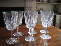 6 Waterford Crystal Lismore Goblets