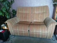 2 seater Parker Knoll electric recliner sofa