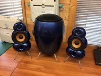 Blue Room Minipods and Blueroom Sub Speakers hifi