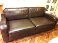 Brown Leather John Lewis Sofa Ex Con 2 seater