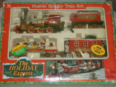 NEW BRIGHT THE HOLIDAY EXPRESS CHRISTMAS G SCALE TRAIN SET WORKS PERFECT NICE